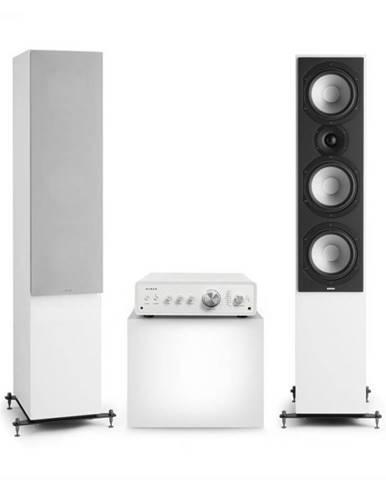 Numan Drive 801, stereo sada, stereo zosilňovač, vežový reproduktor, biela/sivá