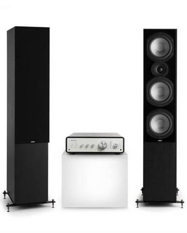 Numan Drive 801, stereo sada, stereo zosilňovač, vežový reproduktor, čierna/čierna