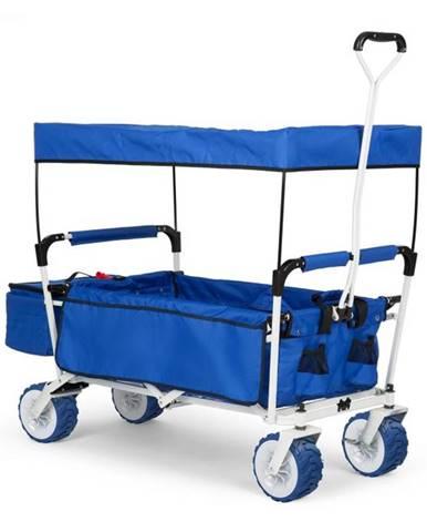 Waldbeck The Blue Supreme, ručný vozík, skladací, 68 kg, strieška proti slnku