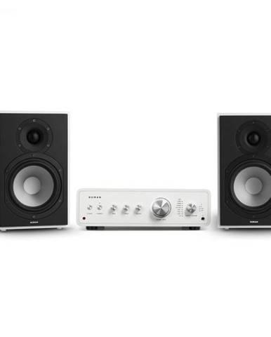 Numan Drive 802, stereo sada, stereo zosilňovač, regálový reproduktor, biela/biela