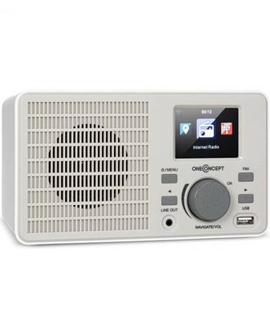 OneConcept TuneUp, internetové rádio, 5 W, WLAN, USB, HCC displej, linkový výstup, biele