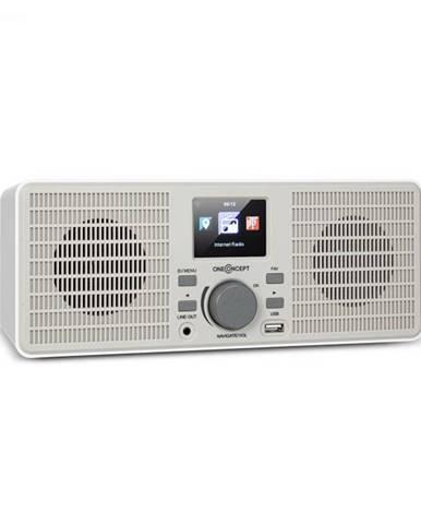 OneConcept TuneUp ST, internetové rádio, 10 W, WLAN, USB, HCC, linkový výstup, biele