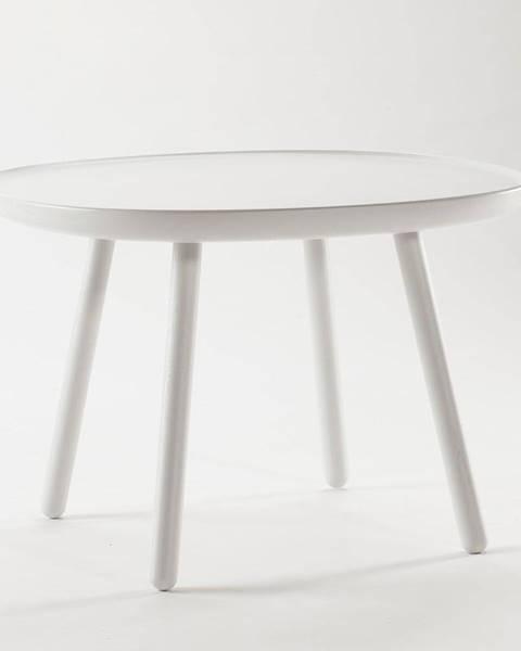 EMKO Biely odkladací stolík z masívu EMKO Naïve, ø64cm