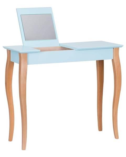 Ragaba Svetlotyrkysový toaletný stolík sozrkadlom Ragaba Dressing Table,dĺžka85cm