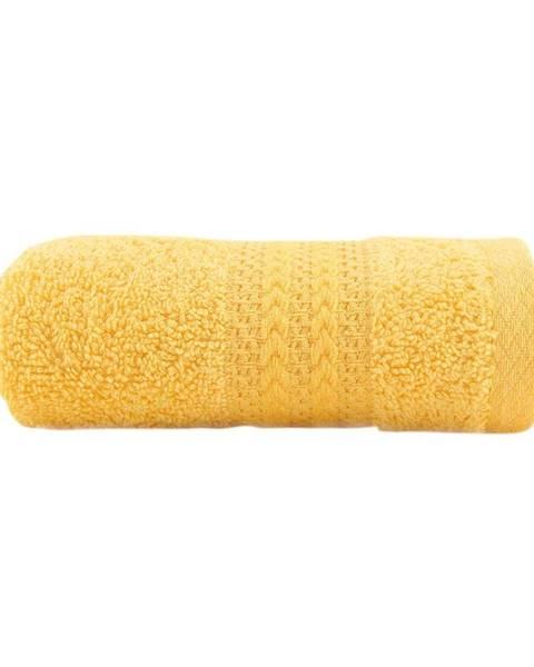 Hobby Žltý uterák z čistej bavlny Sunny, 30 × 50 cm