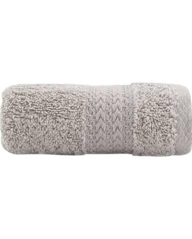 Sivý bavlnený uterák Amy, 30×50 cm
