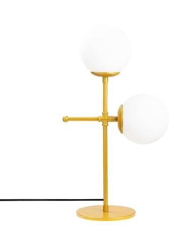 Stolová lampa v zlato-bielej farbe Opviq lights Mudoni