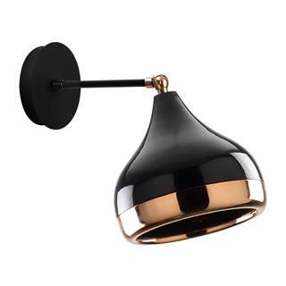 Nástenné svietidlo v čierno-medenej farbe Opviq lights Yildo