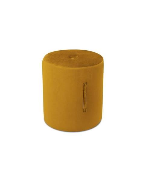 Mazzini Sofas Oranžový puf Mazzini Sofas Fiore, ⌀ 40 cm