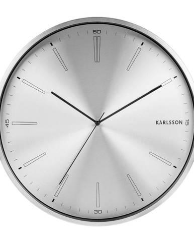 Sivé kovové hodiny Karlsson Distinct, ø 40 cm