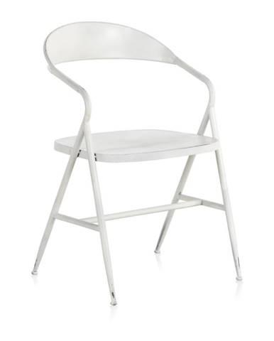 Biele kovové kreslo Geese Industrial Style Puro