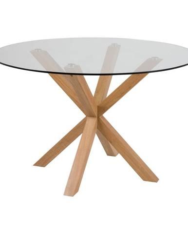 Jedálenský stôl so sklenenou doskou Actona Heaven, ⌀ 119 cm