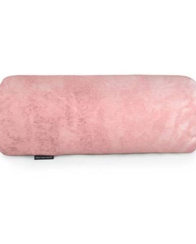Ružový dekoratívny vankúš Velvet Atelier, 50×20cm
