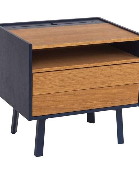 Ragaba Nočný stolík s detailmi v tmavomodrej farbe Ragaba Diamond