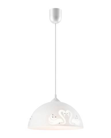 Biele závesné svietidlo Lamkur Swan