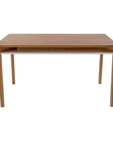 Hnedý jedálenský stôl z dubového dreva Ragaba Zeen