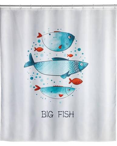 Prateľný sprchový záves Wenko Big Fish, 180 x 200 cm