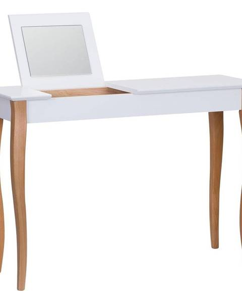 Ragaba Biely toaletný stolík so zrkadlom Ragaba Dressing Table, dĺžka 105 cm