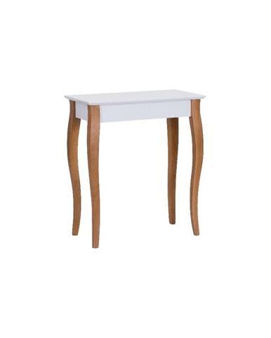 Biely konzolový odkladací stolík Ragaba Console, dĺžka 65 cm