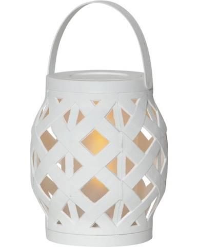 Biely lampáš Best Season Flame Lantern, 14 x 16 cm