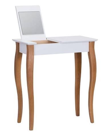 Biely toaletný stolík so zrkadlom Ragaba Dressing Table, dĺžka 65 cm