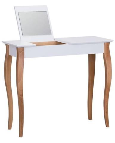 Biely toaletný stolík so zrkadlom Ragaba Dressing Table, dĺžka 85 cm