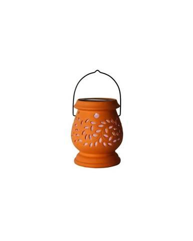 Červený vonkajší LED lampáš Best Season Clay Terracotta