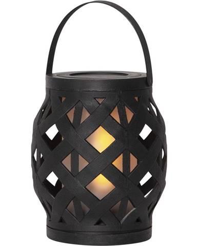 Čierny lampáš Best Season Flame Lantern, 14 x 16 cm