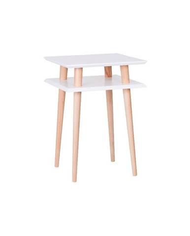 Konferenčný stolík UFO Square White, 43 cm (šírka) a 61 cm (výška)