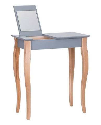 Tmavosivý toaletný stolík so zrkadlom Ragaba Dressing Table, dĺžka 65 cm