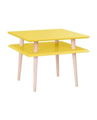 Žltý konferenčný stolík Ragaba Square, 55 x 55 cm