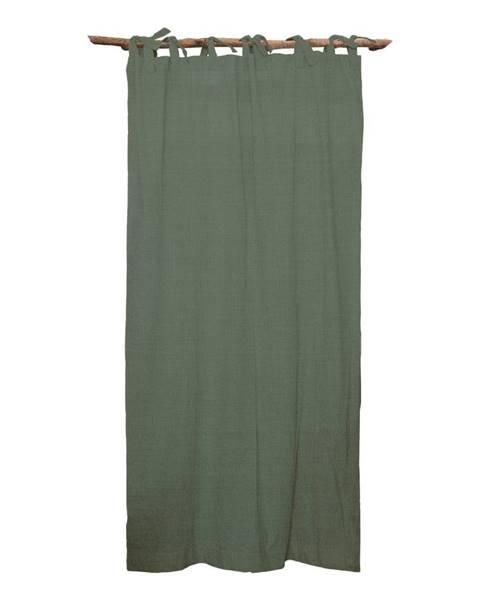 Linen Couture Zelený záves Linen Cuture Cortina Hogar Green