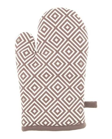 Hnedá bavlnená chňapka Tiseco Home Studio Tetris