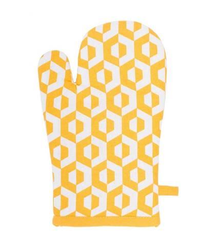 Žltá bavlnená chňapka Tiseco Home Studio Hxagon