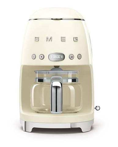 Krémovo-biely kávovar na filtrovanú kávu SMEG