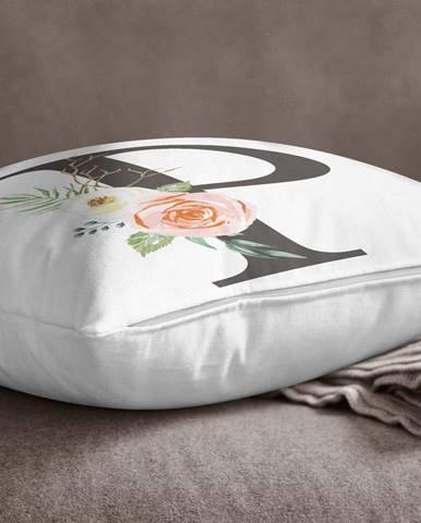 Obliečka na vankúš Minimalist Cushion Covers Floral Alphabet P, 45 x 45 cm