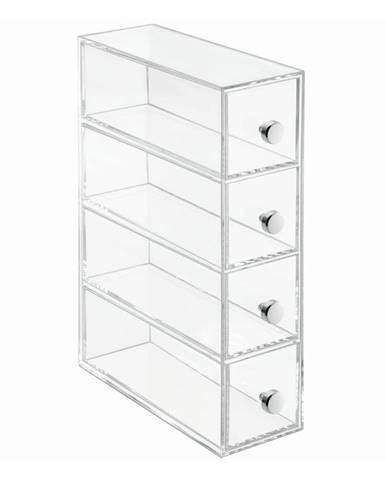 Transparentný úložný box so 4 zásuvkami iDesign Werso