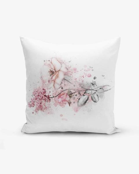 Minimalist Cushion Covers Obliečka na vankúš s prímesou bavlny Minimalist Cushion Covers Ogea Flower Leaf, 45×45 cm