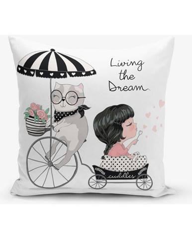 Obliečka na vankúš s prímesou bavlny Minimalist Cushion Covers Living Dream, 45×45 cm