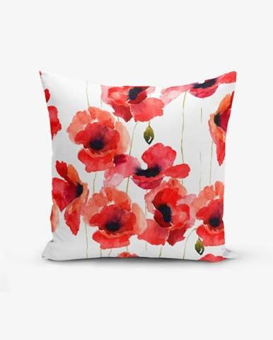 Obliečka na vankúš s prímesou bavlny Minimalist Cushion Covers Máky, 45×45 cm