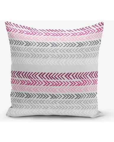 Obliečka na vankúš s prímesou bavlny Minimalist Cushion Covers Zig, 45×45 cm
