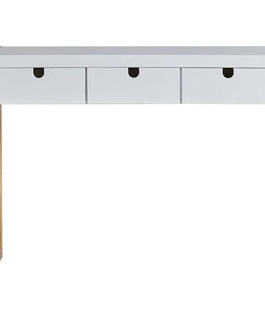 Biely konzolový stolík Marckeric Square, 101 × 77 cm
