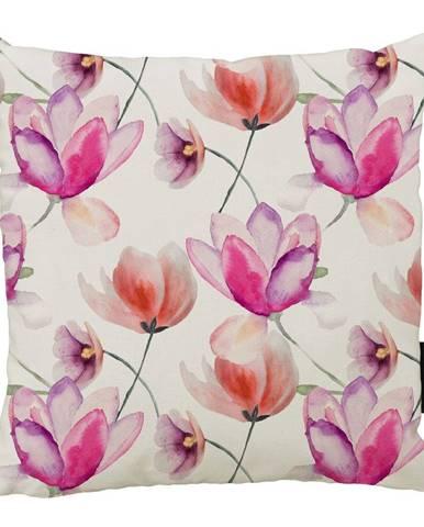 Vankúš Butter Kings z bavlny Pink Tulipány, 45 x 45 cm