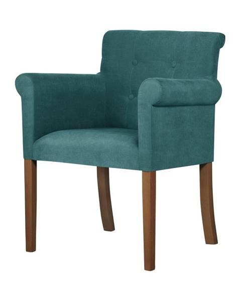 Ted Lapidus Maison Tyrkysová stolička s tmavohnedými nohami Ted Lapidus Maison Flacon