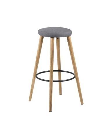 Sivá barová stolička Actona Hector Wood