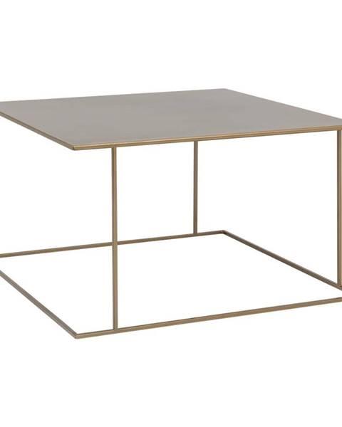 Custom Form Konferenčný stolík v zlatej farbe Custom Form Walt, 80 × 80 cm