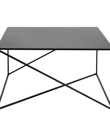 Čierny konferenčný stolík Custom Form Memo, 100 × 100 cm