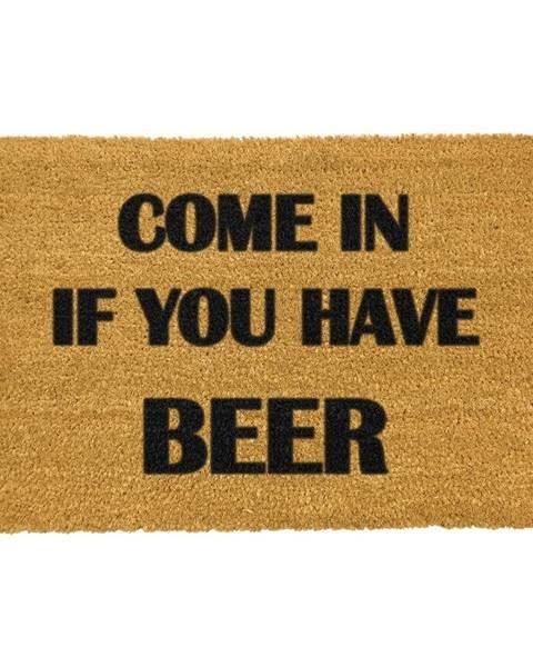 Artsy Doormats Rohožka z prírodného kokosového vlákna Artsy Doormats Come Again and Bring Beer, 40 x 60 cm