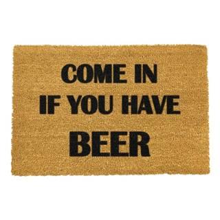 Rohožka z prírodného kokosového vlákna Artsy Doormats Come Again and Bring Beer, 40 x 60 cm