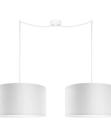 Biele dvojramenné závesné svietidlo Sotto Luce MIKA